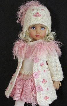 Beautiful Dolls For Decoration on We Heart It Crochet Doll Clothes, Knitted Dolls, Girl Doll Clothes, Doll Clothes Patterns, Crochet Dolls, Barbie Clothes, Girl Dolls, Pretty Dolls, Cute Dolls