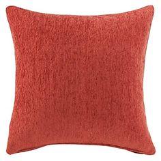 "18""+Squard+Orange+Thick+Chenille+Polyester+Decorative+Pillow+Cover+–+USD+$+19.99"