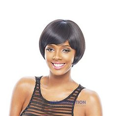 JANET COLLECTION SYNTHETIC KISS PERM TED WIG