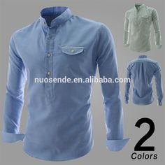 0a106c9cd7690 2015 hombres de moda camisa de los hombres de color sólido camisas  masculinas de largo- manga slim fit casual
