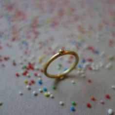 Liebesperlen Ring Familienring Goldring mit von fraudietel auf Etsy