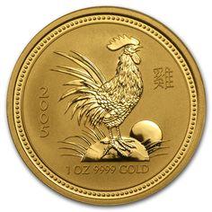 Lunar Australia BU//Specimen Year of Rooster. 2005 1//2oz Silver 50 Cents.