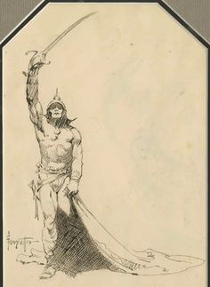 Cap'n's Comics: Coupla Very Rare Frank Frazetta Drawings