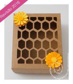 FREE DIY 3D cut files studio PDF honeycomb bee box                                                                                                                                                                                 Mais