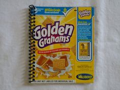 cereal box journals - pick favorite cereal, bind cover and white paper with book binder and document/illustrate our Summer To-Do List
