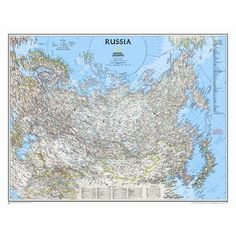 National Geographic Maps Russia Classic Wall Map Map Type: Laminated x Framed Maps, Wall Maps, Cork Board Map, Russia Map, National Geographic Maps, North America Map, Map Globe, Us Map, Map Art