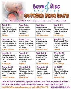 October FREE KINDERMUSIK DEMO DAYS!