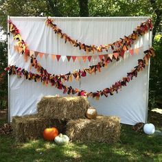 Pose for pre-trick or treating snaps with your little ones in front of this backdrop.