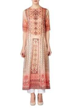 Buy Red multiple digital print tunic by Anita Dongre at Aza Fashions Textile Prints, Textile Design, Suits For Women, Ladies Suits, Kurta Designs, Fashion Outfits, Womens Fashion, Embroidery Patterns, Digital Prints