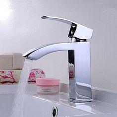 Elegant Brass Bathroom Sink Faucet - Chrome Finish  – CAD $ 97.06