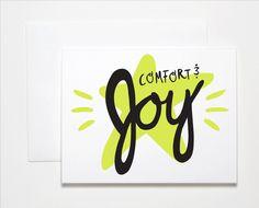 Comfort & Joy Neon Holiday Card