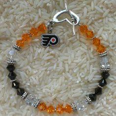 Philadelphia Flyers Bracelet on Etsy, $30.00