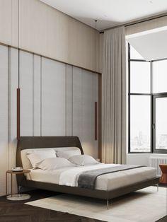 Bedroom #bedroom #modernbedroom #minimalisticbedroom #ideasforbedroom #minimalism #minimalisticarchitecture #minimalisticinterior #architecture #modernarchitecture #design #minimalisticdesign Minimalism, Divider, Bed, Room, Furniture, Design, Home Decor, Bedroom, Decoration Home