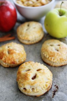 Apple Hand Pies Recipe on twopeasandtheirpod.com Apple pies that you can eat with your hands! These mini pies are fun and delicious!