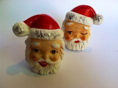 Vintage Santa Salt and Pepper Shakers
