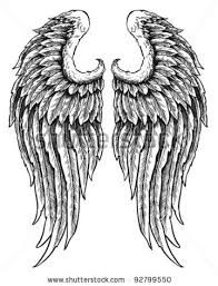 drawing angel wings - Google Search