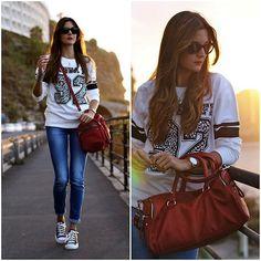 C&A Sweater, Zara Bag, Stradivaris Jeans, Converse Sneakers, Calvin Klein Watch