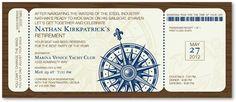 Nautical Invitations, Nautical Boarding Pass, 24002