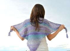 Easy Knit Scarf Shawl Free Pattern #knitting