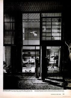 LIFE magazine story on the home of Charles and Ray #Eames.  CE is in the living room downstairs, while RE is in an upstairs bedroom #eameshouse