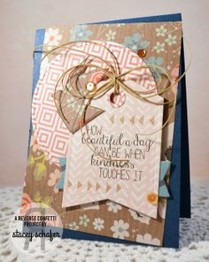 Stacey's Stamping Stage, Reverse Confetti, Origami, My Mind's Eye, Pretty Pink Posh, Card
