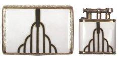 Art Deco Cigarette Case and Lighter - @~ Mlle