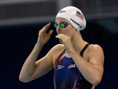 """Missy Franklin on her Rio Olympic experience: """"It sucks""""  -  August 11, 2016   -    United States' Missy Franklin prepares to start during a women's 200-meter backstroke heat in the swimming competitions at the 2016 Summer Olympics, Thursday, Aug. 11, 2016, in Rio de Janeiro, Brazil."""
