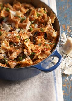 Bow Ties with Chicken and Dried-Tomato Pesto