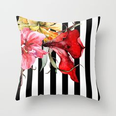 Buy FLORA BOTANICA | stripes by Cheryl Daniels as a high quality Throw Pillow. Worldwide shipping available at Society6.com. Just one of millions of…
