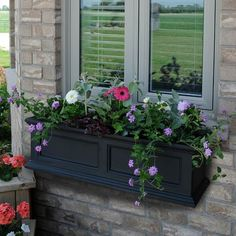 "Exterior Solutions - 36""W x 11""D x 10-4/5""H, Fairfield Window Planter"