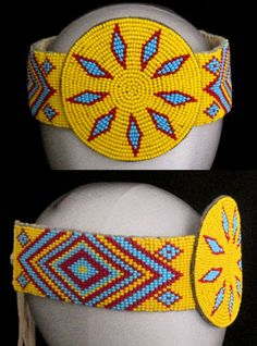 Booty native american beaded rosettes strips headbands divas completley naked