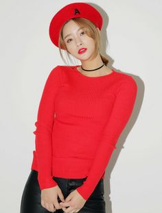 [STYLENANDA] SOLID SLIM LONG SLEEVE TOP