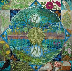 """""""Every tree, every plant, has a spirit. People may say that the plant has no mind. I tell them that the plant is alive & conscious. A plant may not talk, but there is a spirit in it that is conscious, that sees everything, which is the soul of the plant, its essence, what makes it alive. The channels through which the water & sap move are the veins of the spirit."""" - Pablo Amaringo   Artwork by: Fiona Owen Art   Tony Moss"""