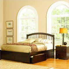 Atlantic Furniture Windsor Platform Bed with Flat Panel Footboard and Storage Drawer Set - 945XX-DPKG - Lowest price online on all Atlantic Furniture Windsor Platform Bed with Flat Panel Footboard and Storage Drawer Set - 945XX-DPKG