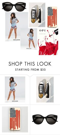 """Untitled #5314"" by mariaisabel701 ❤ liked on Polyvore featuring Liquor n Poker, Converse and OPI"