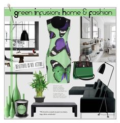 """""""Green Infusion: Home & Fashion"""" by pat912 ❤ liked on Polyvore featuring Kartell, 1 ONE, Global Views, Aquiesse, greenday and polyvoreditorial"""