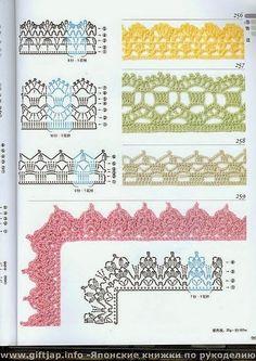 molti bordi   Hobby lavori femminili - ricamo - uncinetto - maglia
