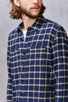 Stapleford Chico Plaid Flannel Button-Down Shirt