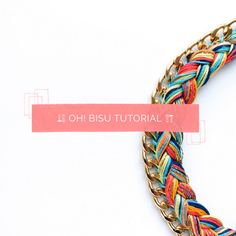 Embroidery thread necklace tutorial. In Spanish, but easy enough.