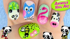 Nail art with animals! In this nail tutorial I show 5 nail art designs inspired by animals! 5 cute animal nail art designs perfect for all animal lovers. Animal Nail Designs, Animal Nail Art, Toe Nail Designs, Simple Nail Designs, Cute Nail Art, Nail Art Diy, Easy Nail Art, Cute Nails, Diy Art