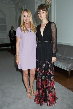 Frida Giannini with Bella Heathcote in Gucci.