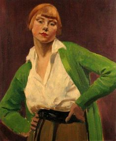 Augustus John, 1920, Portret van Iris Tree, Dublin City Gallery