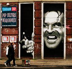 """Hereeee's Johnny!"" Amazing street art in Berlin, Germany <3 #graffiti"