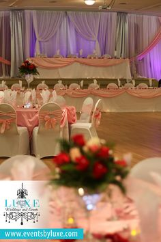 Wedding venue decorations ideas wedding backdrop and drape ideas pink white and silver quinceanera backdrop pink and white wedding backdrop ideas tiered solutioingenieria Gallery