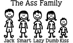 Family Car Decals, Stick Figure Family, Truck Stickers, Family Humor, Stick Figures, Tool Box, Dumb And Dumber, Comics, Funny
