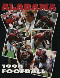 1994 University of Alabama Football Media Guide Cover