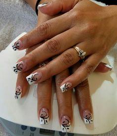 #classy #blackwhite #prettynails