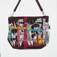 Unique Art Handbag  collage work