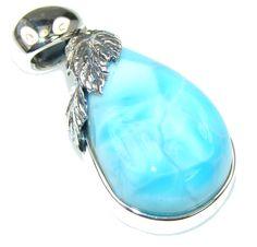 $50.25 Magic Blue Larimar Sterling Silver Pendant at www.SilverRushStyle.com #pendant #handmade #jewelry #silver #larimar