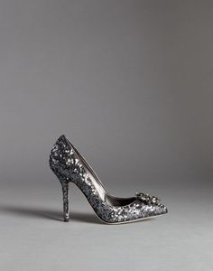 BELLUCCI SEQUINED PUMPS WITH BROOCH | Dolce&Gabbana Online Store